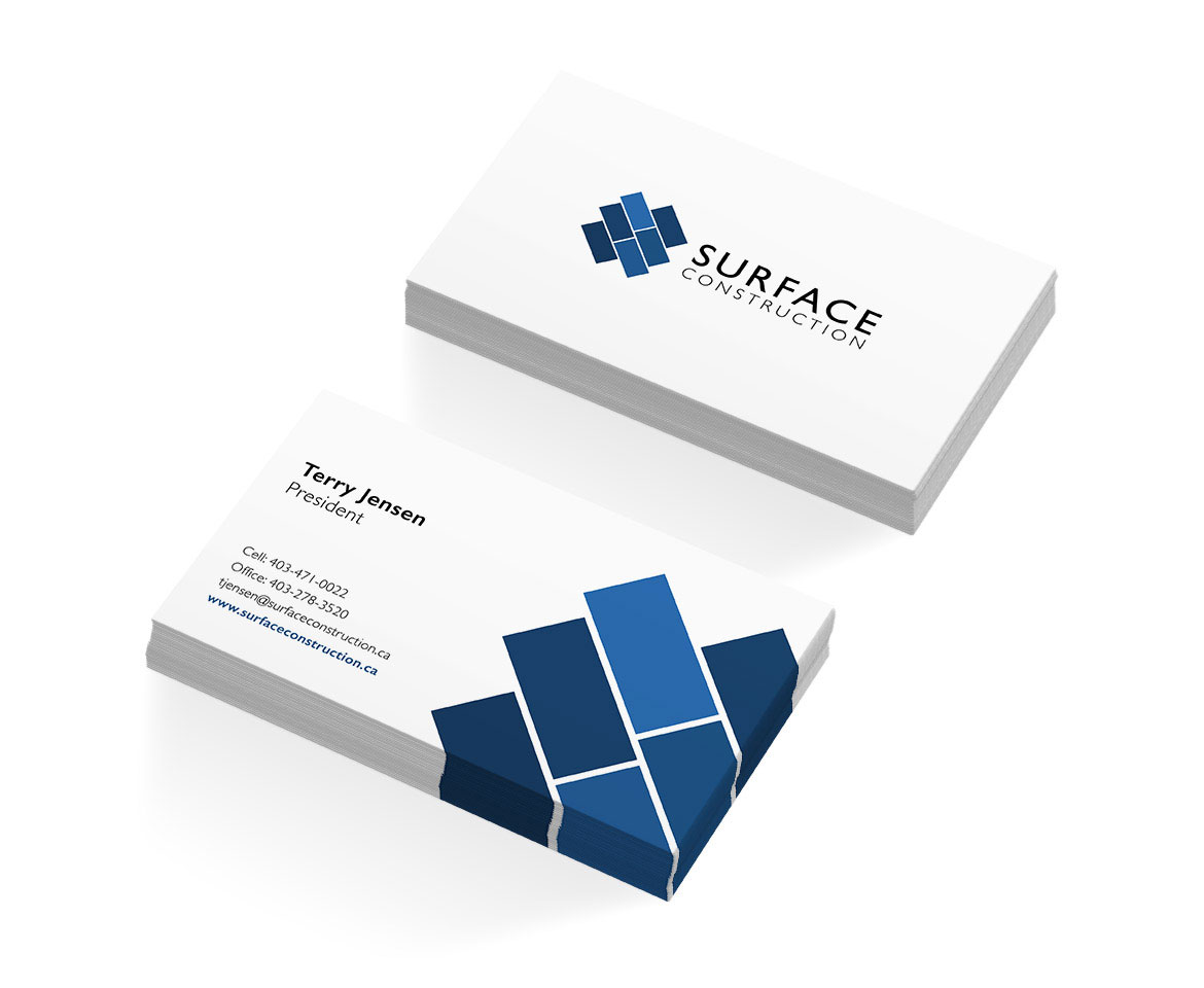 Surface Construction Business Cards