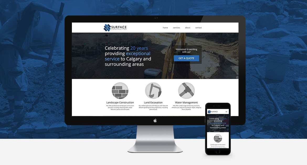 Surface Construction Website