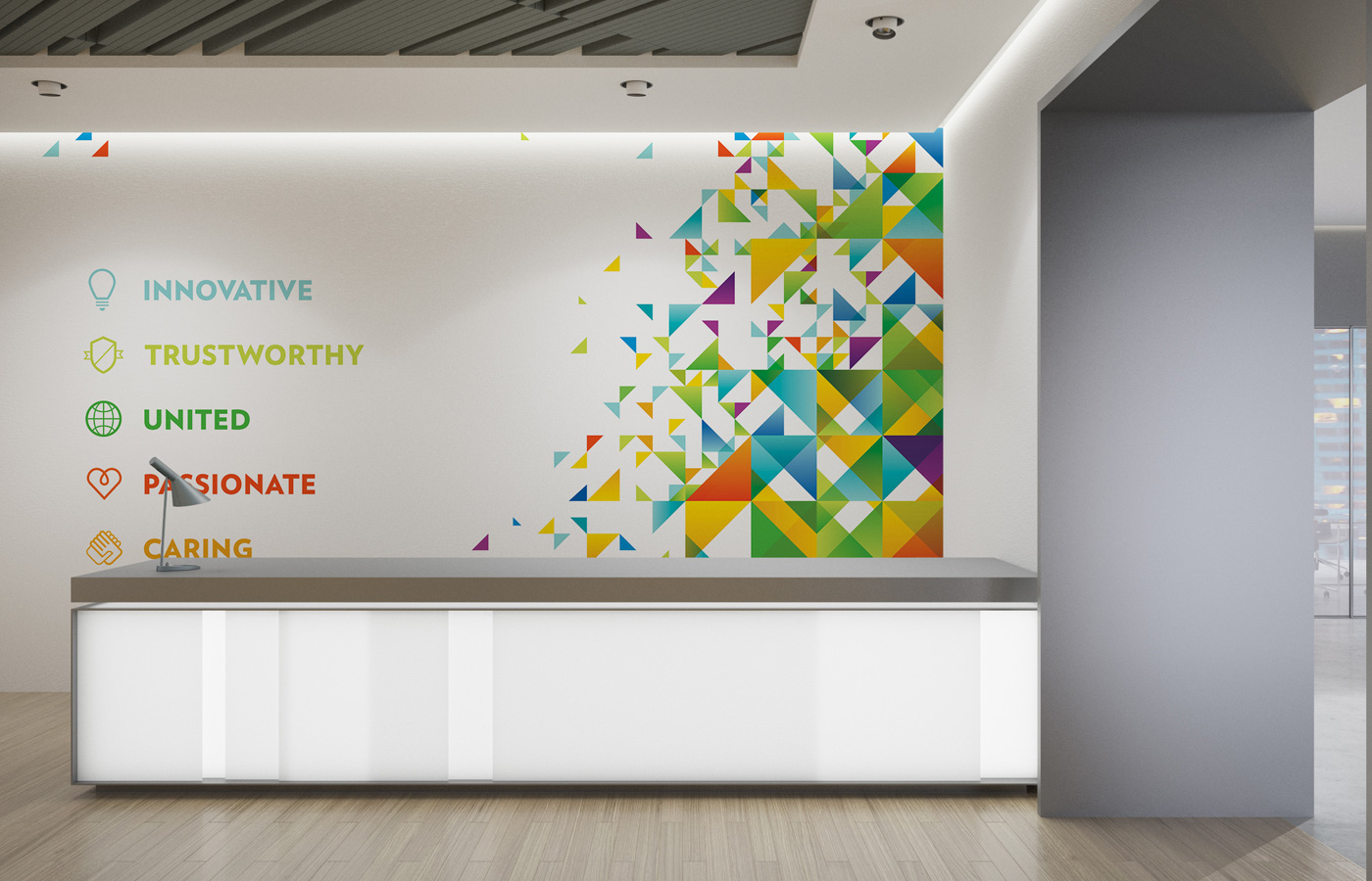 WSP Place wall graphics