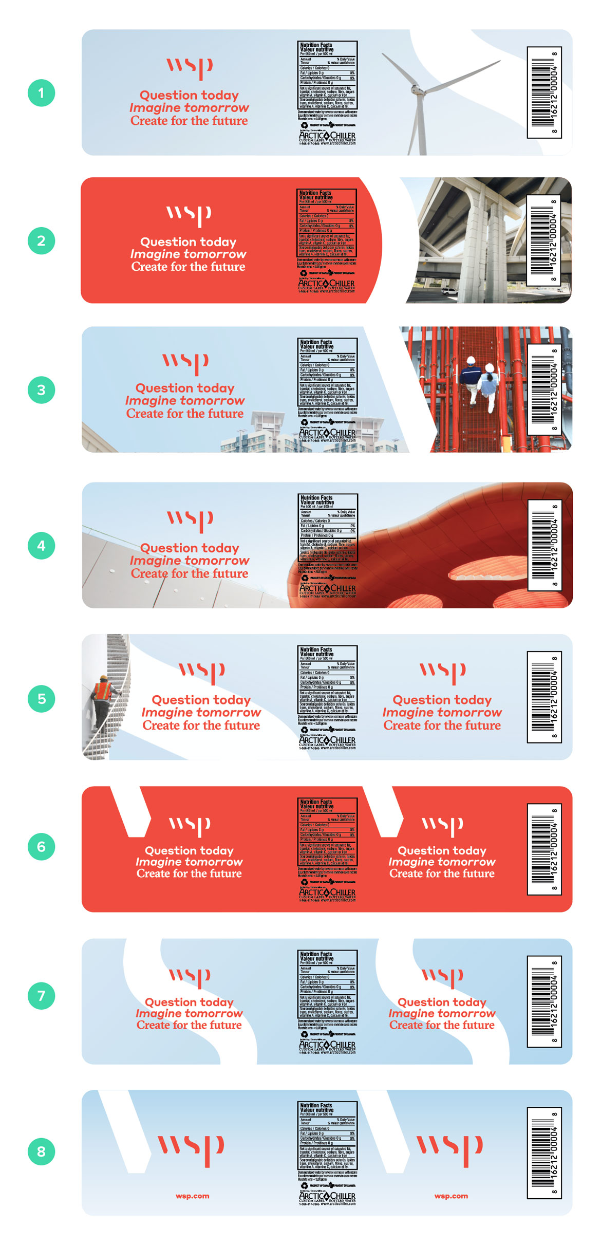WSP Canad Water Label Design Concepts
