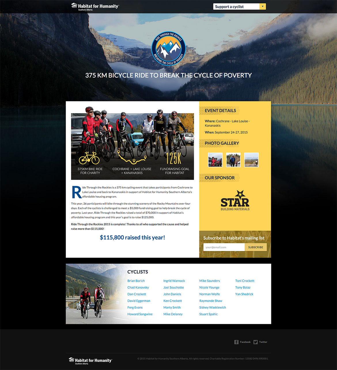 Ride Through The Rockies Homepage